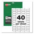 Avery 60529 PermaTrack Destructible Asset Tag Labels, Laser Printers, 0.75 x 1.5, White, 40/Sheet, 8 Sheets/Pack