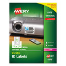 AVERY-DENNISON AVE6576 Permanent Id Labels W/trueblock Technology, Laser, 1 1/4 X 1 3/4, White, 1600/pk