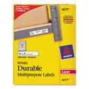 AVERY-DENNISON AVE6577 Permanent Id Labels W/trueblock Technology, Laser, 5/8 X 3, White, 1600/pack
