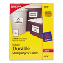 AVERY-DENNISON AVE6579 Permanent Id Labels W/trueblock Technology, Laser, 5 X 8 1/8, White, 100/pack