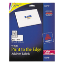 AVERY-DENNISON AVE6871 Color Printing Mailing Labels, 1 1/4 X 2 3/8, White, 450/pack