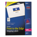 AVERY-DENNISON AVE6874 Color Printing Mailing Labels, 3 X 3 3/4, White, 150/pack