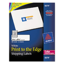 AVERY-DENNISON AVE6879 Color Printing Mailing Labels, 1 1/4 X 3 3/4, White, 300/pack