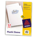 Avery AVE72311 Clear Plastic Sleeves, Polypropylene, Letter, 12/pack