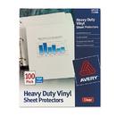 AVERY-DENNISON AVE73900 Top-Load Vinyl Sheet Protectors, Heavy Gauge, Letter, Clear, 100/box