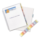 AVERY-DENNISON AVE74161 Protect 'n Tab Top-Load Clear Sheet Protectors W/eight Tabs, Letter
