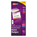 AVERY-DENNISON AVE74520 Neck Hang Badge Holder W/laser/inkjet Insert, Top Load, 3 X 4, White, 50/bx