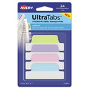 Avery 74769 Ultra Tabs Repositionable Margin Tabs, 1/5-Cut Tabs, Assorted Pastels, 2.5