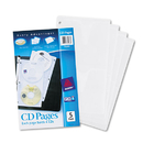 Avery AVE75263 Two-Sided Cd Organizer Sheets For Three-Ring Binder, 5/pack