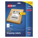 AVERY-DENNISON AVE8126 Shipping Labels W/ultrahold & Trueblock, Inkjet, 5 1/2 X 8 1/2, White, 50/pack