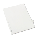 Avery AVE82229 Allstate-Style Legal Exhibit Side Tab Divider, Title: 31, Letter, White, 25/pack
