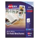 AVERY-DENNISON AVE8324 Tri-Fold Brochures For Inkjet Printers, 8 1/2 X 11, White, 100 Sheets/box