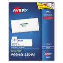 AVERY-DENNISON AVE8462 Easy Peel Inkjet Address Labels, 1 1/3 X 4, White, 1400/box