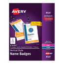 Avery 08520 Lanyard-Style Badge Holder w/Laser/Inkjet Inserts, Top Load, 4.25 x 6, WE, 25/PK