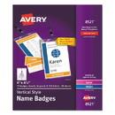 Avery 08521 Lanyard-Style Badge Holder w/Laser/Inkjet Inserts, Top Load, 4.25 x 6, WE, 75/PK