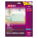 AVERY-DENNISON AVE8667 Clear Easy Peel Mailing Labels, Inkjet, 1/2 X 1 3/4, 2000/pack