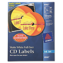 Avery AVE8960 Inkjet Full-Face Cd Labels, Matte White, 40/pack