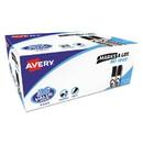 Avery 98207 MARKS A LOT Desk-Style Dry Erase Marker Value Pack, Broad Chisel Tip, Black, 36/Pack