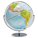 Advantus 30502 12-Inch Globe with Blue Oceans, Silver-Toned Metal Desktop Base, Full-Meridian