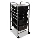ADVANTUS CORPORATION AVT34005 Portable Drawer Organizer, 13w X 15 3/8d X 32 1/8h, Smoke/matte Gray
