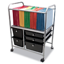 Advantus AVT34100 Letter/legal File Cart W/five Storage Drawers, 21-5/8 X 15-1/4 X 28-5/8, Black