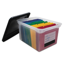 Innovative Storage Designs AVT55802 File Tote With Contents Label, Letter/legal, Clear/black