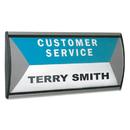 Advantus AVT75390 People Pointer Wall/door Sign, Aluminum Base, 8 3/4 X 4, Black/silver