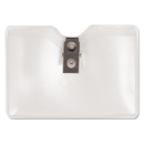 ADVANTUS CORPORATION AVT75412 Security Id Badge Holder, Horizontal, 3 1/2w X 2 1/2h, Clear, 50/box