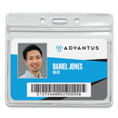 Advantus AVT75523 Resealable Id Badge Holder, Horizontal, 3 3/4 X 2 5/8, Clear, 50/pack