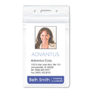 ADVANTUS CORPORATION AVT75524 Resealable Id Badge Holder, Vertical, 2 5/8 X 3 3/4, Clear, 50/pack