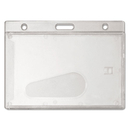 Advantus AVT76075 Frosted Rigid Badge Holder, 2 1/8 X 3 3/8, Clear, Horizontal, 25/bx
