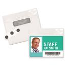 Advantus 97071 Magnetic-Style Name Badge Kits, Horizontal, 4