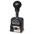ADVANTUS CORPORATION AVT9806450 Royall Economy Numbering Machine, Six Wheels, Pre-Inked/re-Inkable, Black