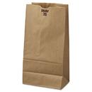 General BAGGK20500 #20 Paper Grocery Bag, 40lb Kraft, Standard 8 1/4 X 5 5/16 X 16 1/8, 500 Bags