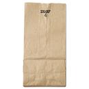 General BAGGK4500 #4 Paper Grocery Bag, 30lb Kraft, Standard 5 X 3 1/3 X 9 3/4, 500 Bags