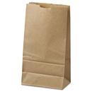 General BAGGK6500 #6 Paper Grocery Bag, 35lb Kraft, Standard 6 X 3 5/8 X 11 1/16, 500 Bags