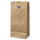 General BAGGK8500 #8 Paper Grocery Bag, 35lb Kraft, Standard 6 1/8 X 4 1/6 X 12 7/16, 500 Bags
