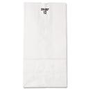 General BAGGW12500 #12 Paper Grocery Bag, 40lb White, Standard 7 1/16 X 4 1/2 X 13 3/4, 500 Bags