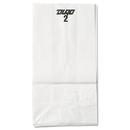 General BAGGW2500 #2 Paper Grocery Bag, 30lb White, Standard 4 5/16 X 2 7/16 X 7 7/8, 500 Bags