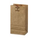 General BAGGX2500 #2 Paper Grocery, 52lb Kraft, Extra-Heavy-Duty 4 5/16x2 7/16 X7 7/8, 500 Bags