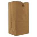Duro Bag BAGGX2560S #25 Paper Grocery, 57lb Kraft, Extra Heavy-Duty 8 1/4x6 1/8 X15 7/8, 500 Bags