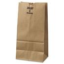 General BAGGX4500 #4 Paper Grocery Bag, 50lb Kraft, Extra-Heavy-Duty 5 X 3 1/3 X 9 3/4, 500 Bags