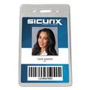 SICURIX BAU47820 Proximity Badge Holder, Vertical, 2 1/2w x 4 1/2h, Clear, 50/Pack