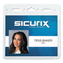 SICURIX BAU67830 Vinyl Badge Holder, 4 x 3, Clear, 50/Pack