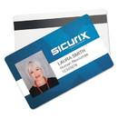 SICURIX BAU80340 Blank ID Card with Magnetic Strip, 2 1/8 x 3 3/8, White, 100/Pack