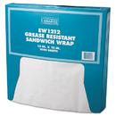 Bagcraft Papercon BGC057012 Grease-Resistant Paper Wrap/liner, 12 X 12, White, 1000/box, 5 Boxes/carton