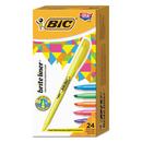 BIC BICBL241AST Brite Liner Highlighter, Chisel Tip, Assorted Colors, 24/set