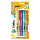 BIC CORPORATION BICBLP51WASST Brite Liner Highlighter, Chisel Tip, Assorted Colors, 5/set