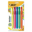 BIC CORPORATION BICBLRP51ASST Brite Liner Retractable Highlighter, Chisel Tip, Assorted Colors, 5/set