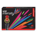 BIC GPMM36AST Intensity Chisel Tip Permanent Marker, Broad, Assorted Colors, 36/Pack